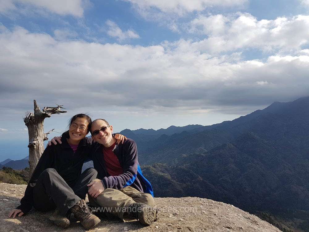 We were so happy to have a birdview of Yakushima at Taikoiwa rock