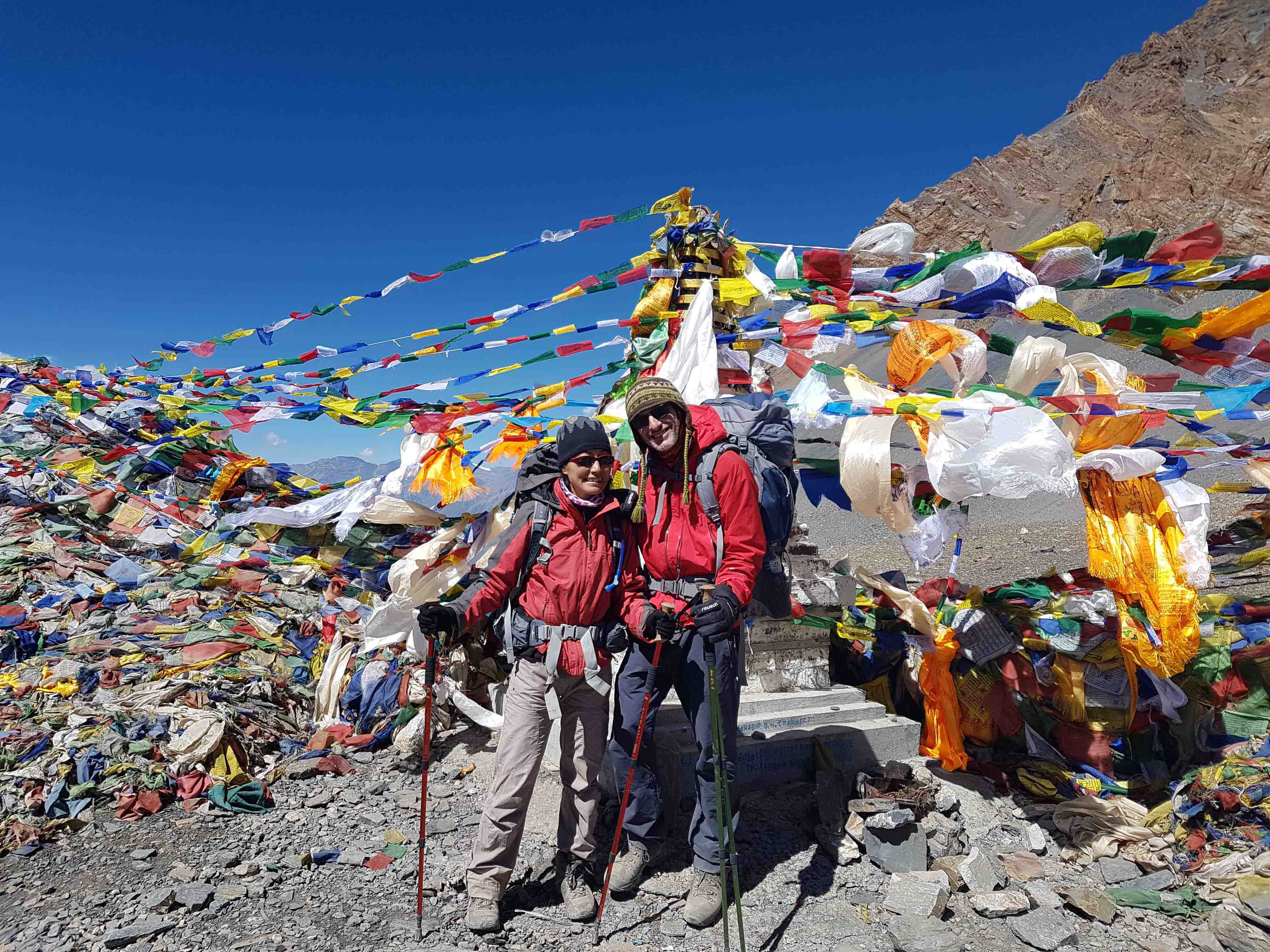 Tod and I at Thorong La Pass, Annapurna, Nepal