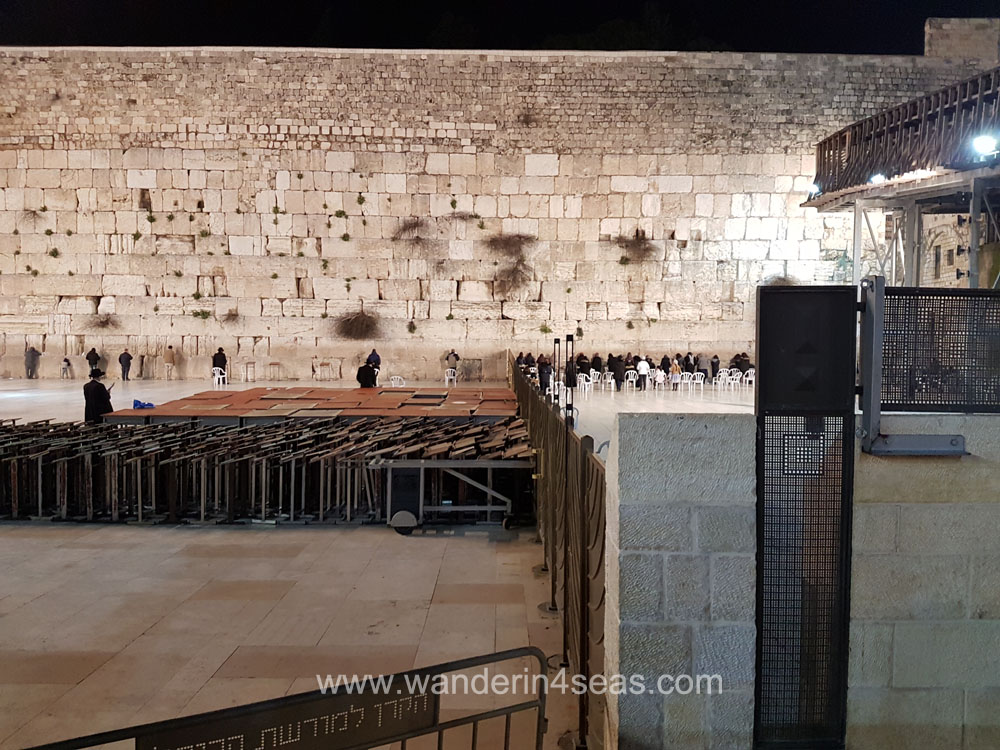 Jerusalem_western wall night