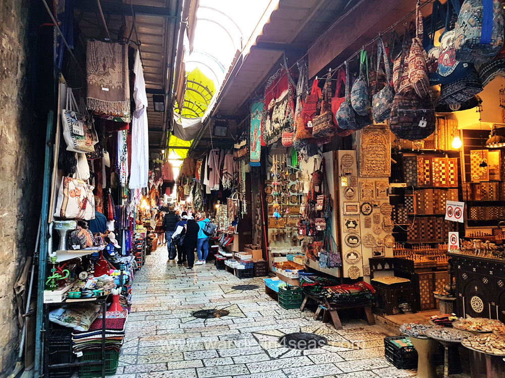 Muslim quarter market in Jerusalem