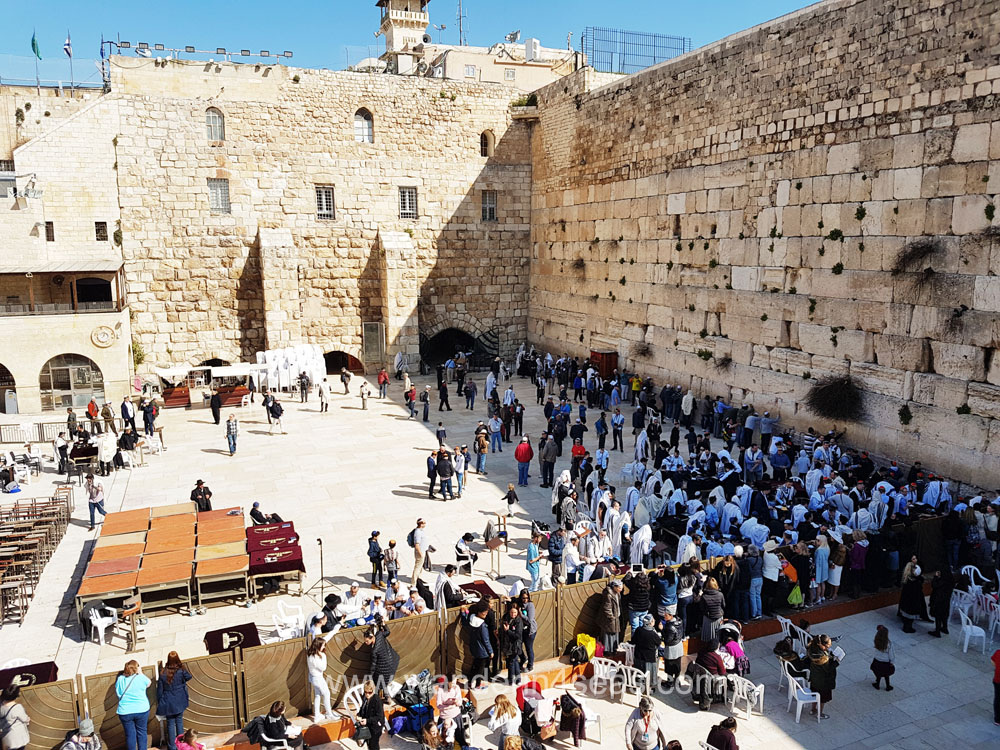 Western Wall Plaza in the morning