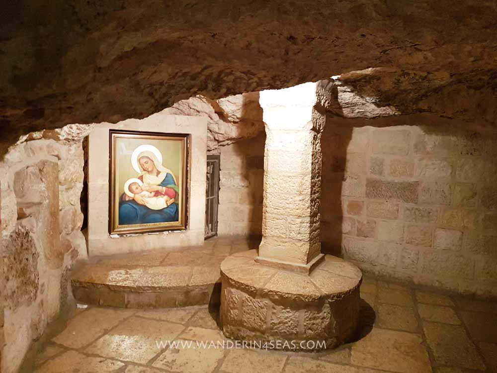 Inside the Milk Grotto