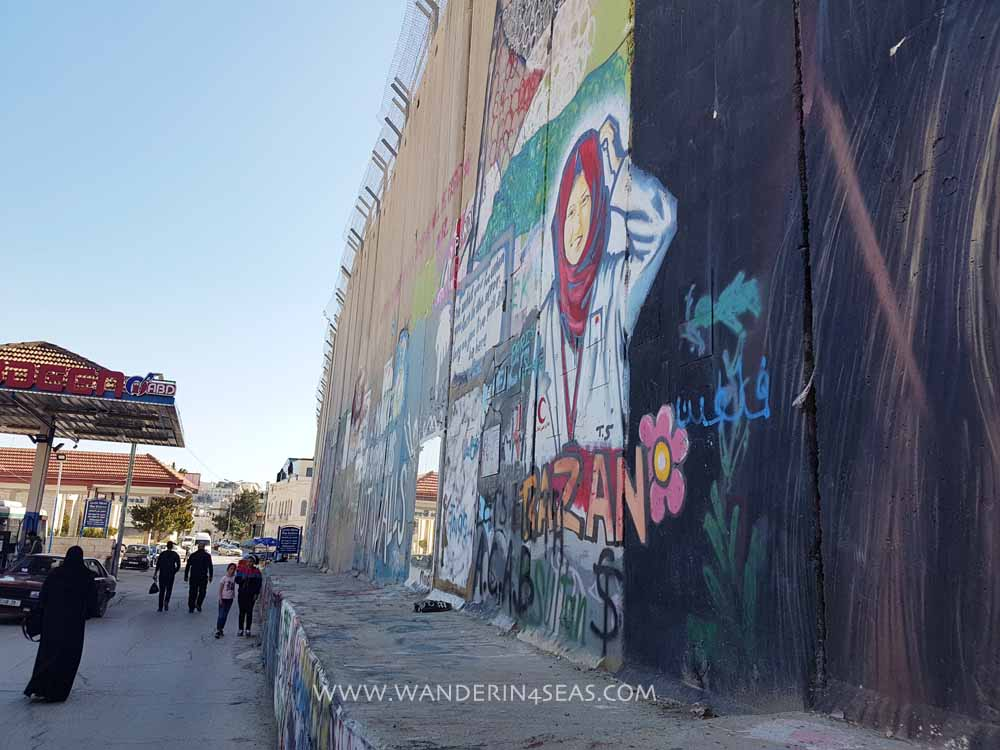 Graffiti on the West Bank Barrier walls