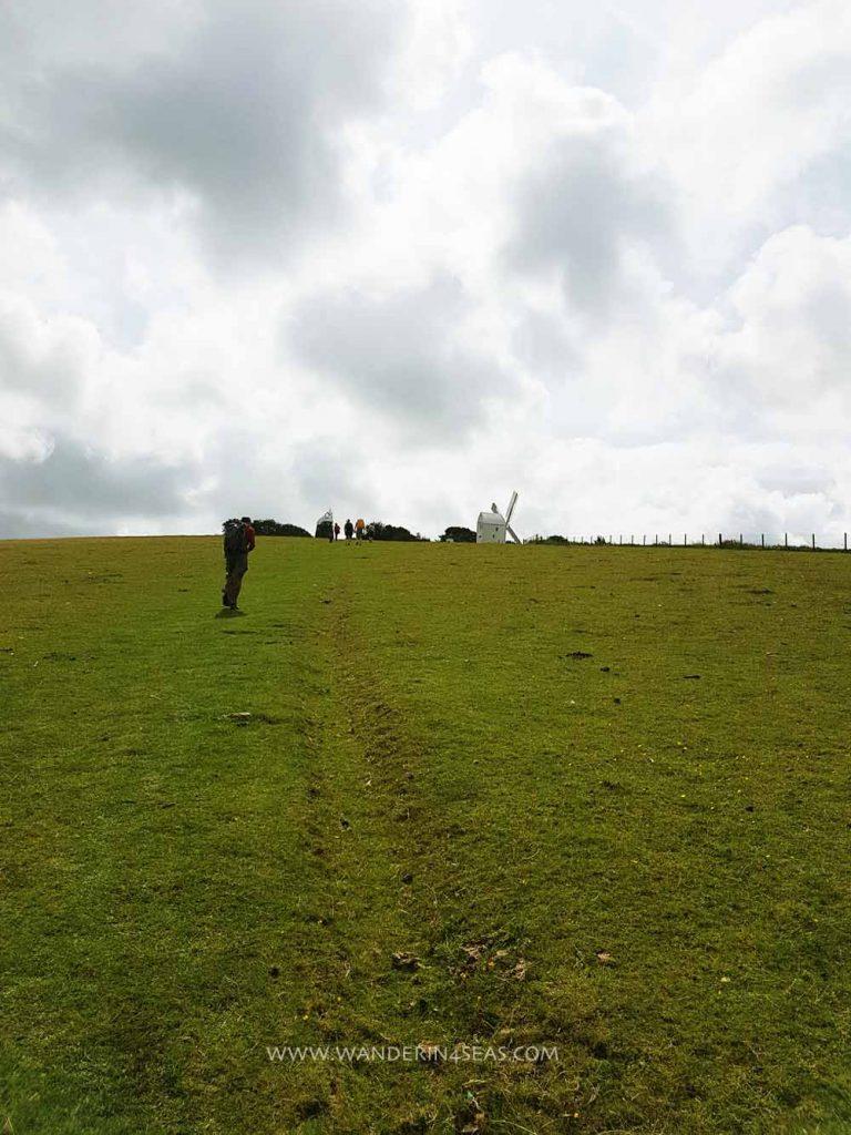 Uphill path to windmills