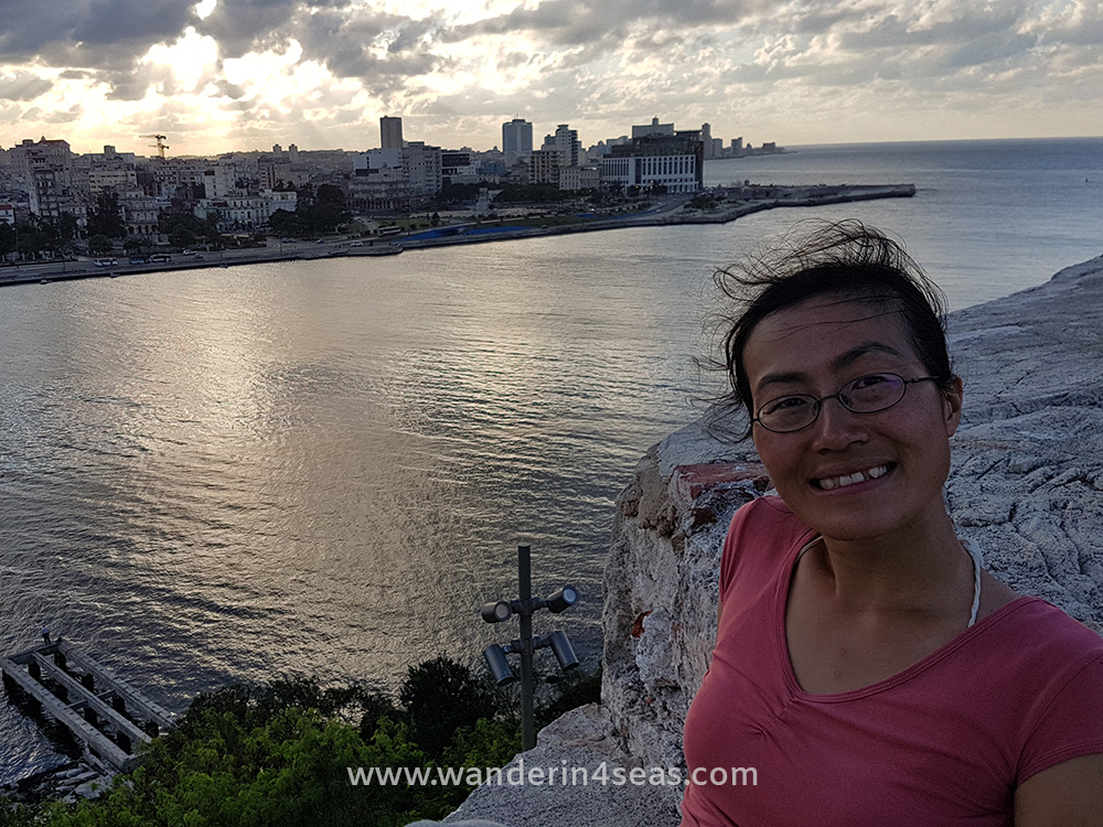 View of Havana old city from Castillo De Los Tres Reyes Del Morro