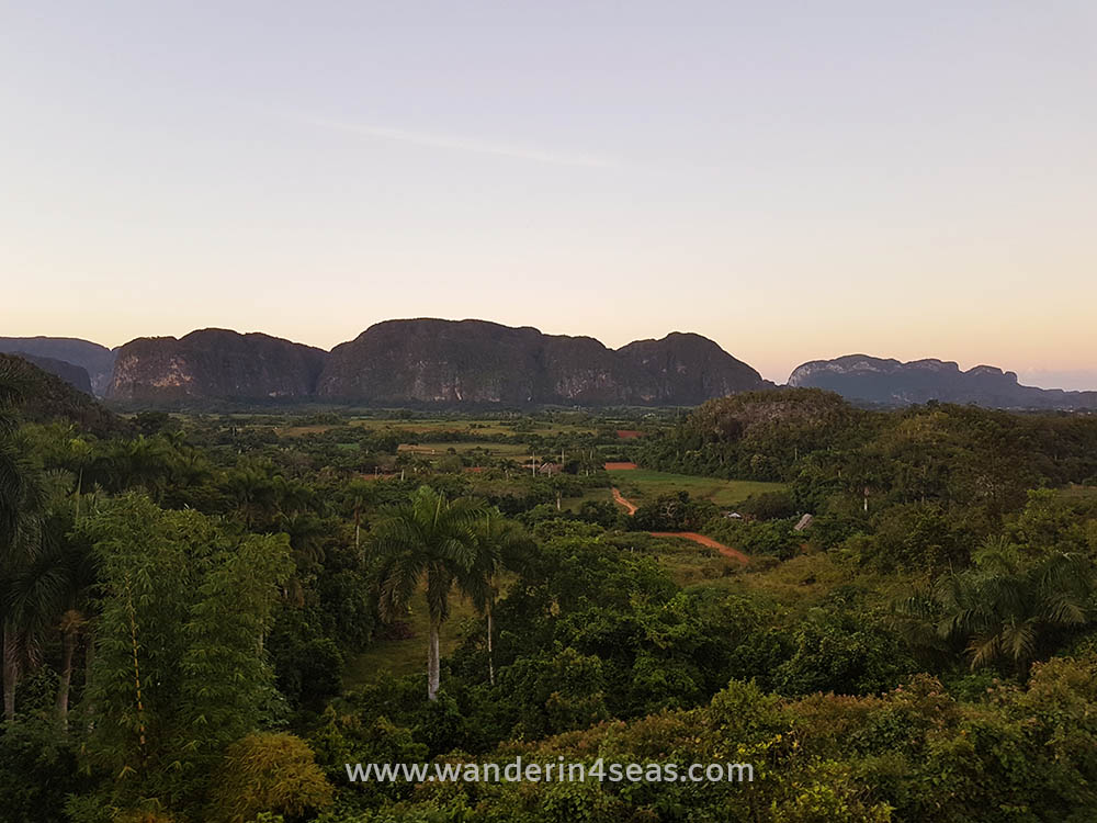 View over Vinales's valley next to Los Jazmines