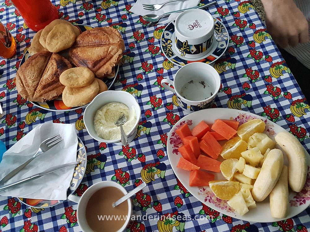 Typical Cuban breakfast at Casas