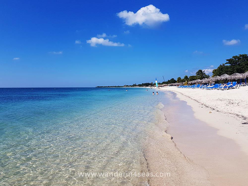Perfect white sandy beach at Playa Ancon