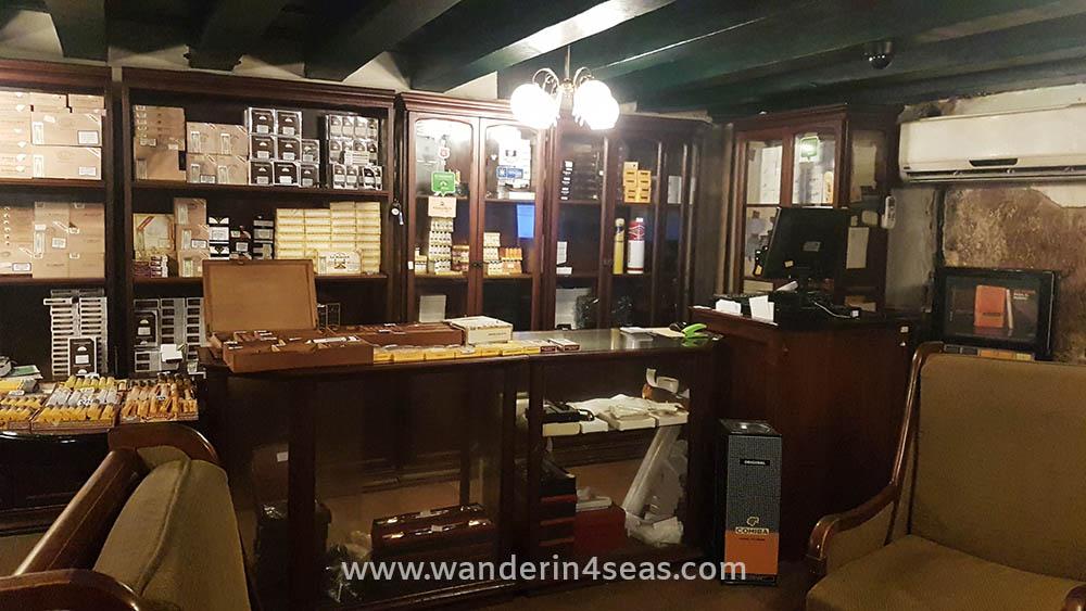 Inside a cigar shop in Havana